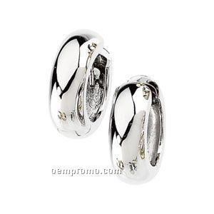 14kw 19mm Ladies' Hinged Earring