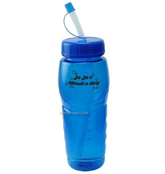 24 Oz. Yellowstone Polycarbonate Water Bottle With Straw