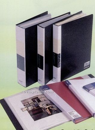 80 Page Presentation Book With Opaque Black Cover
