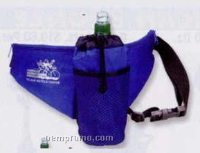 Deluxe Fanny Pack & Water Bottle Holder W/ Custom Imprint (2 Asst. Colors)