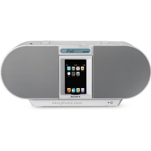 Sony Zss4i Boombox W/CD Player Ipod/Iphone Dock