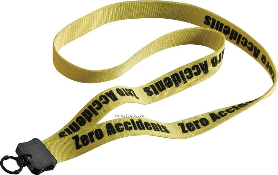 "3/4"" Stretchy Elastic Lanyard With Plastic Clamshell & O-ring"