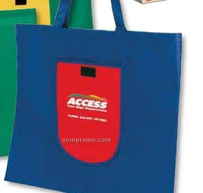 Foldable Non Woven Tote Bag (Blank)