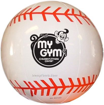 Inflatable Sports Beach Ball - Baseball