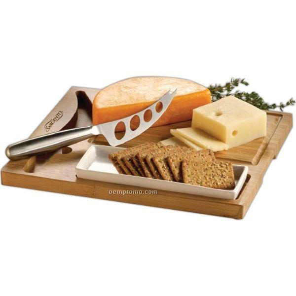 Bamboo Cheese Server Set