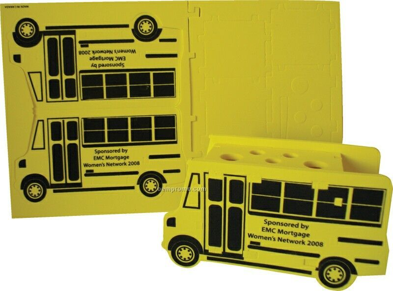 Foam School Bus Puzzle Organizer