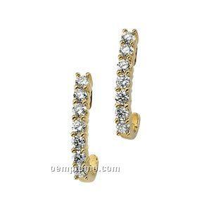 Ladies' 14ky 1 Ct Tw Diamond Round Earring