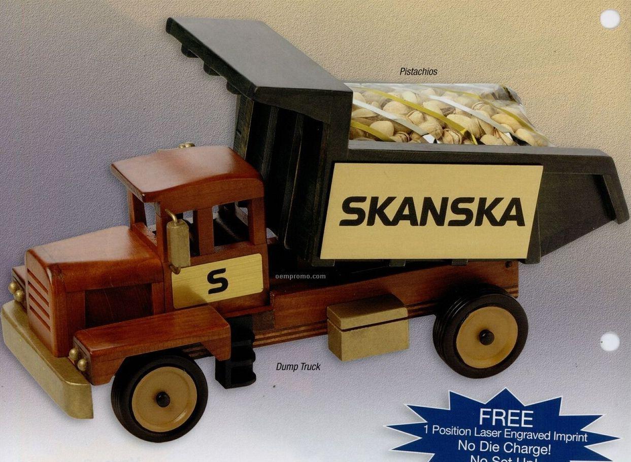 Wooden Dump Truck W/ Pistachios