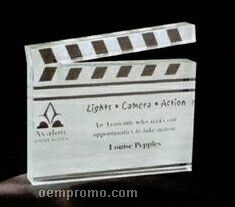 Acrylic Paperweight Up To 16 Square Inches / Clapboard