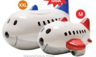 Airplane Ceramic Specialty Bank - Burgundy Red