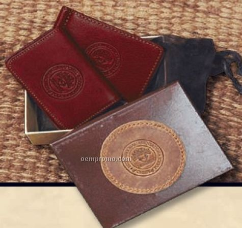Gift Set W/ Cheyenne River Money Clip/ Wallet & Buffalo Business Card Case