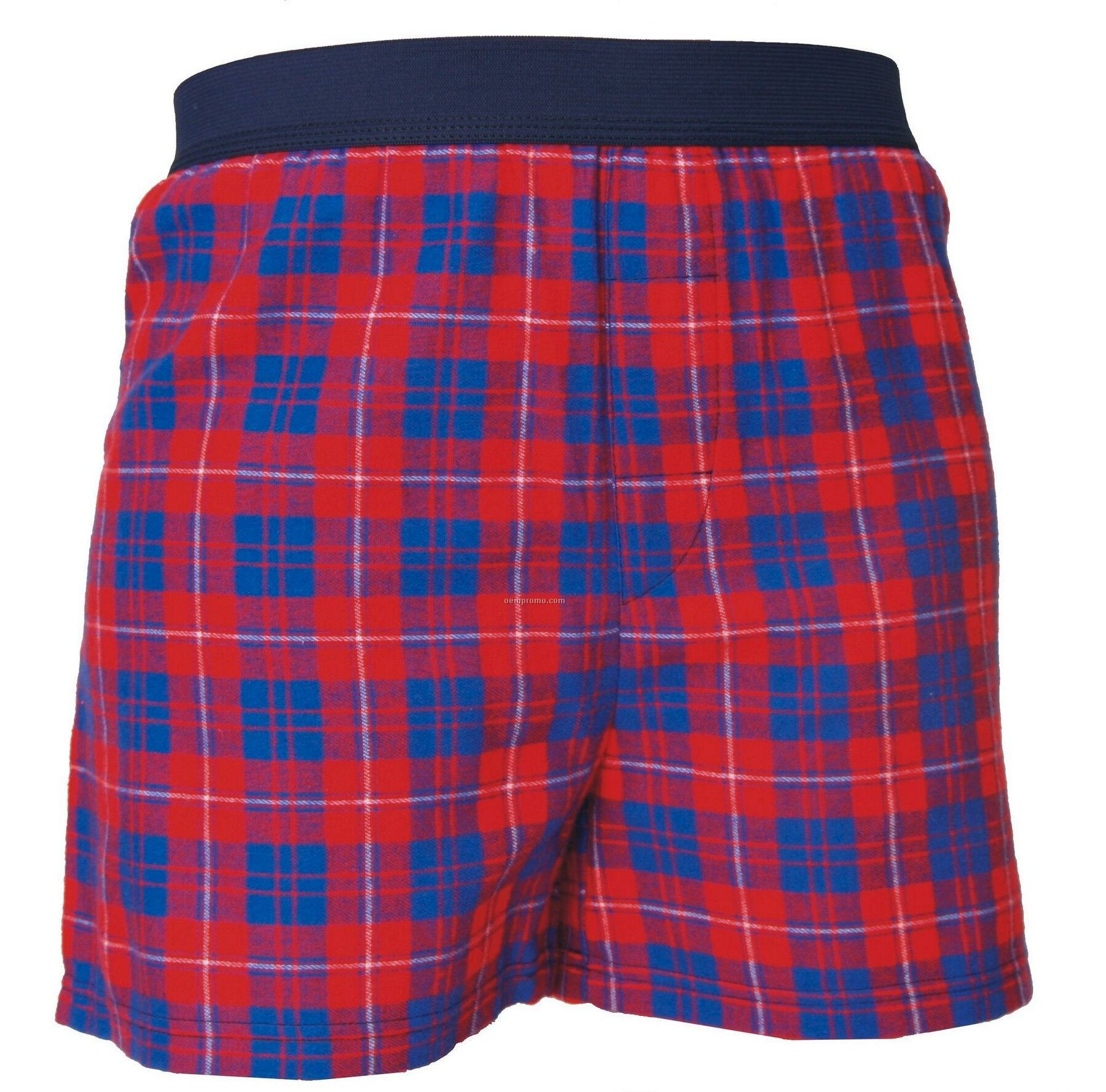 Youth Blue/Red Plaid Classic Boxer Short