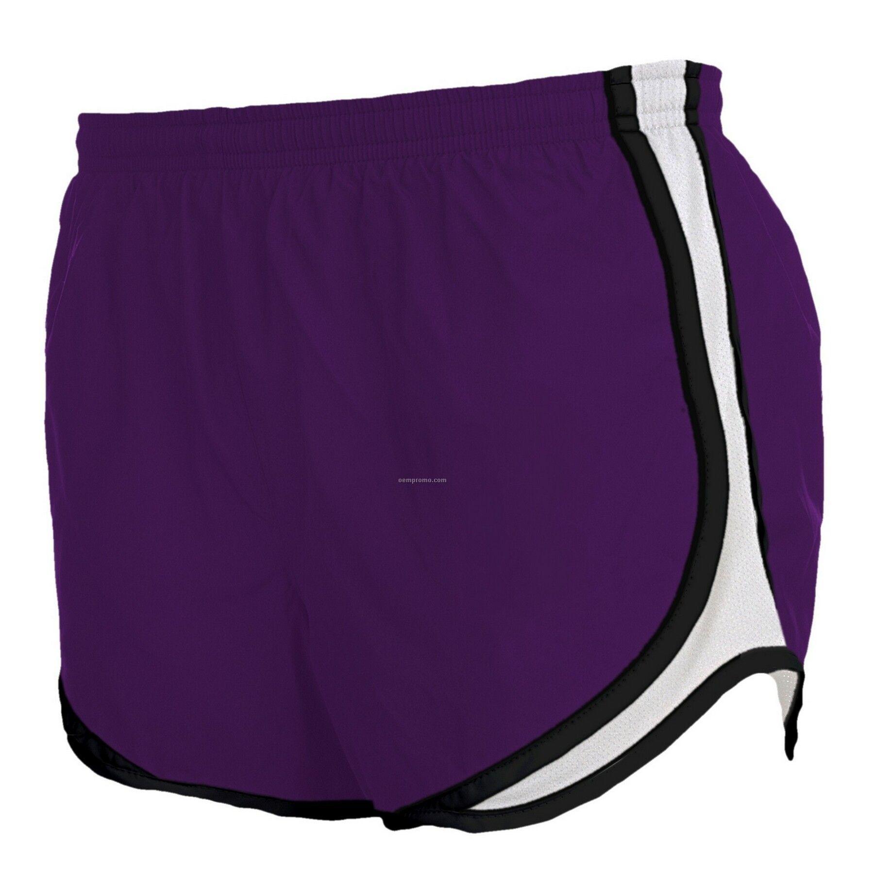 Youth Purple/Black/White Velocity Shorts