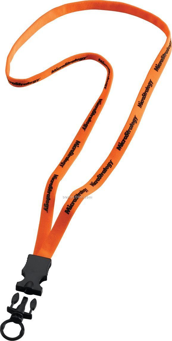 "3/8"" Stretchy Elastic Lanyard With Plastic Snap Buckle Release & O-ring"