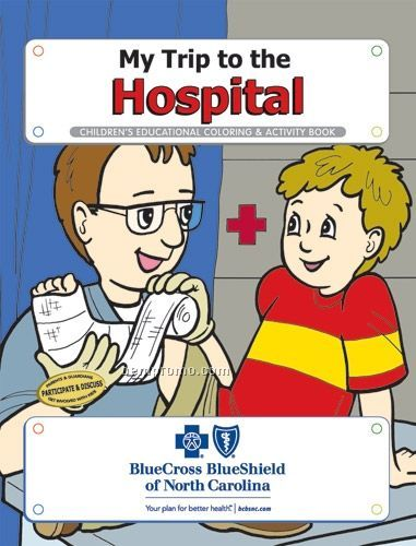 Action Pack Coloring Book W/ Crayons & Sleeve - My Trip To The Hospital