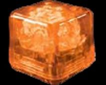 Blank Party Ice Orange LED Glow Cubes (Liquid Activated)