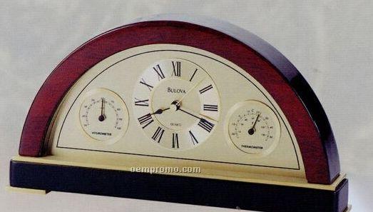 "Bulova Executive Collection Seabury Clock & Thermometer (5.75""X10""X2"")"