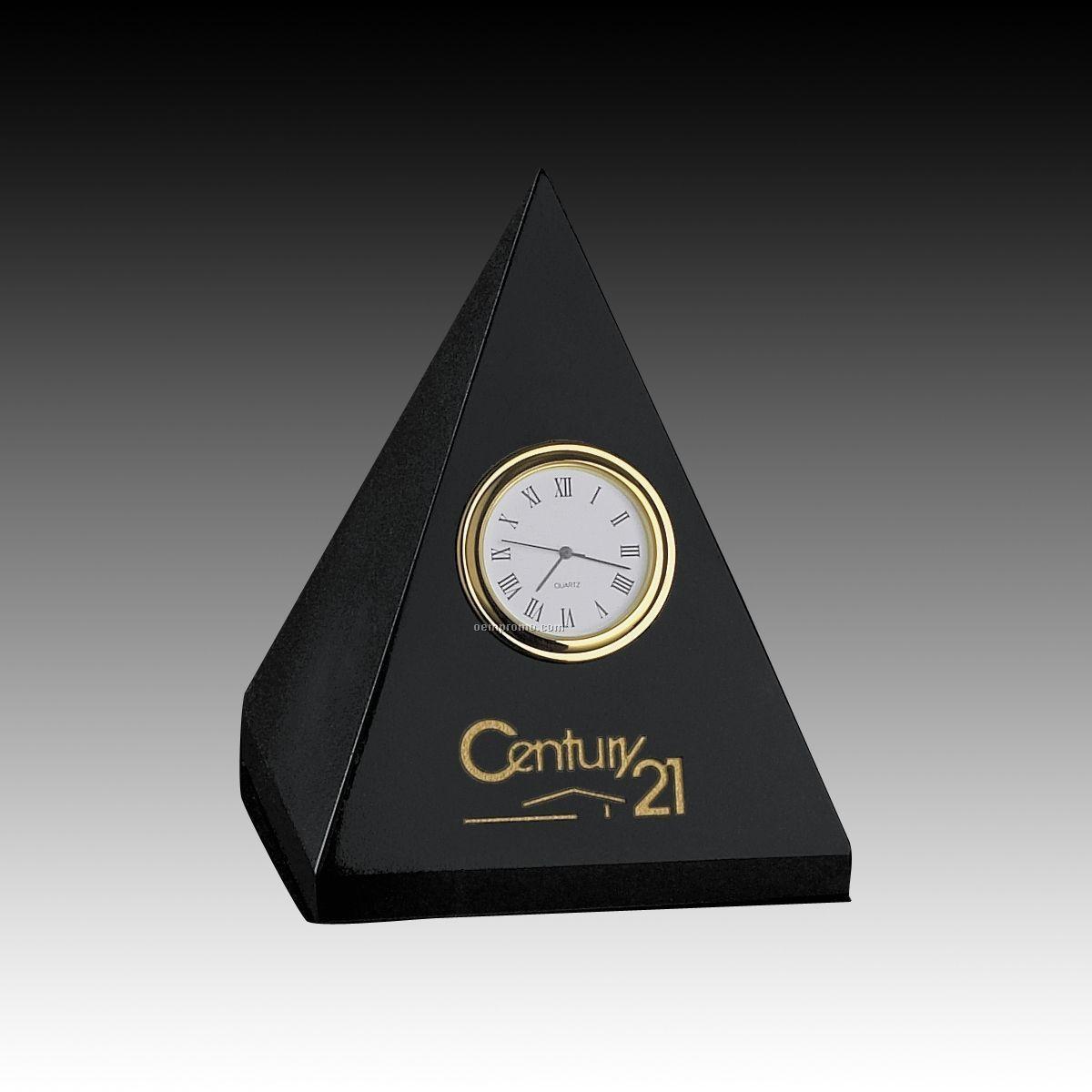 Genuine Marble Pyramid Clock