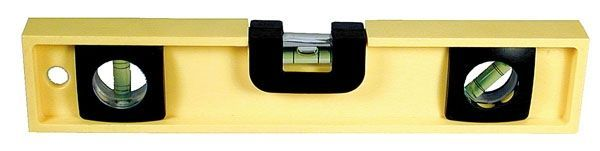 Tool Box Level W/ Ruled Edge & 3 High Visibility Vials