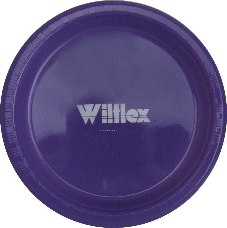 "Colorware 9"" Purple Plastic Plate"