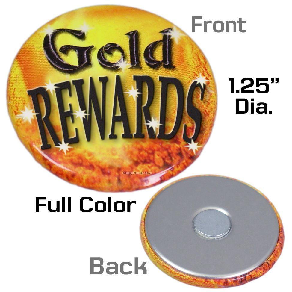 "Metal Button Magnet (1 1/4"") - Rush Service"