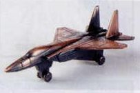 Military Bronze Metal Pencil Sharpener - F-15 Jet Fighter