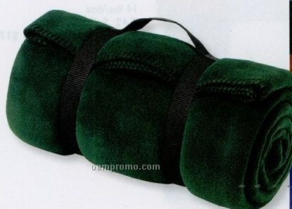 Port & Company Value Fleece Blanket With Strap