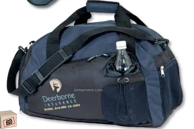 Sport Bag W/ Shoe Compartment (Blank)