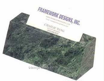 Green Marble Desk Accessories (Business Card Holder)