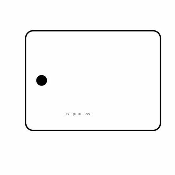 Stock Shape Collection Rectangle 19 Key Tag