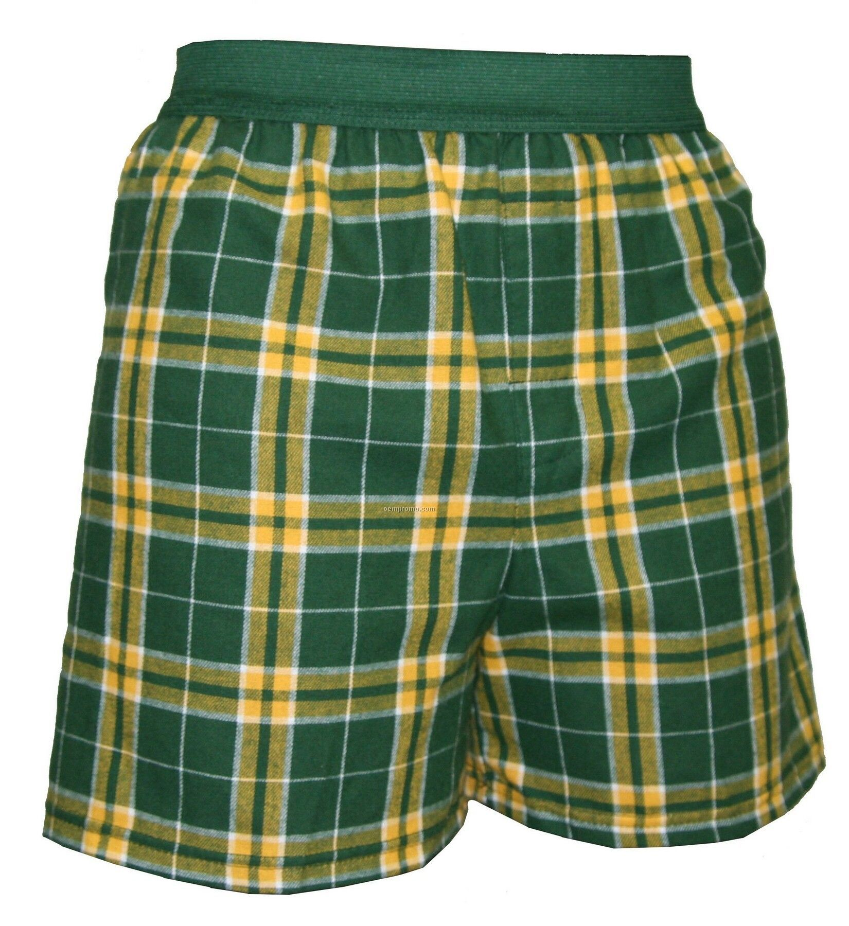 Youth Green/Gold Plaid Classic Boxer Short