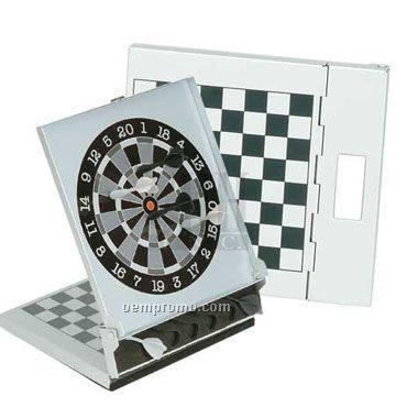 "7 1/8"" Magnetic Chess & Dart Set(Engraved)"