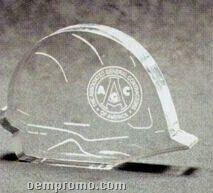 Acrylic Paperweight Up To 16 Square Inches / Construction Hardhat