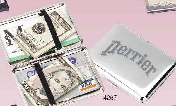 Chrome Travel Cash Box (Screened)