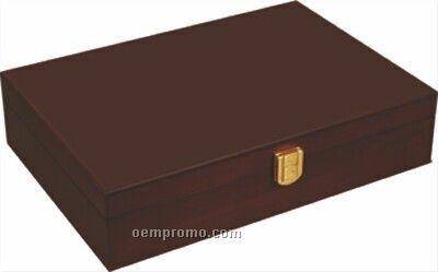 Mahogany Wood Chip Case - 200 Chip Capacity