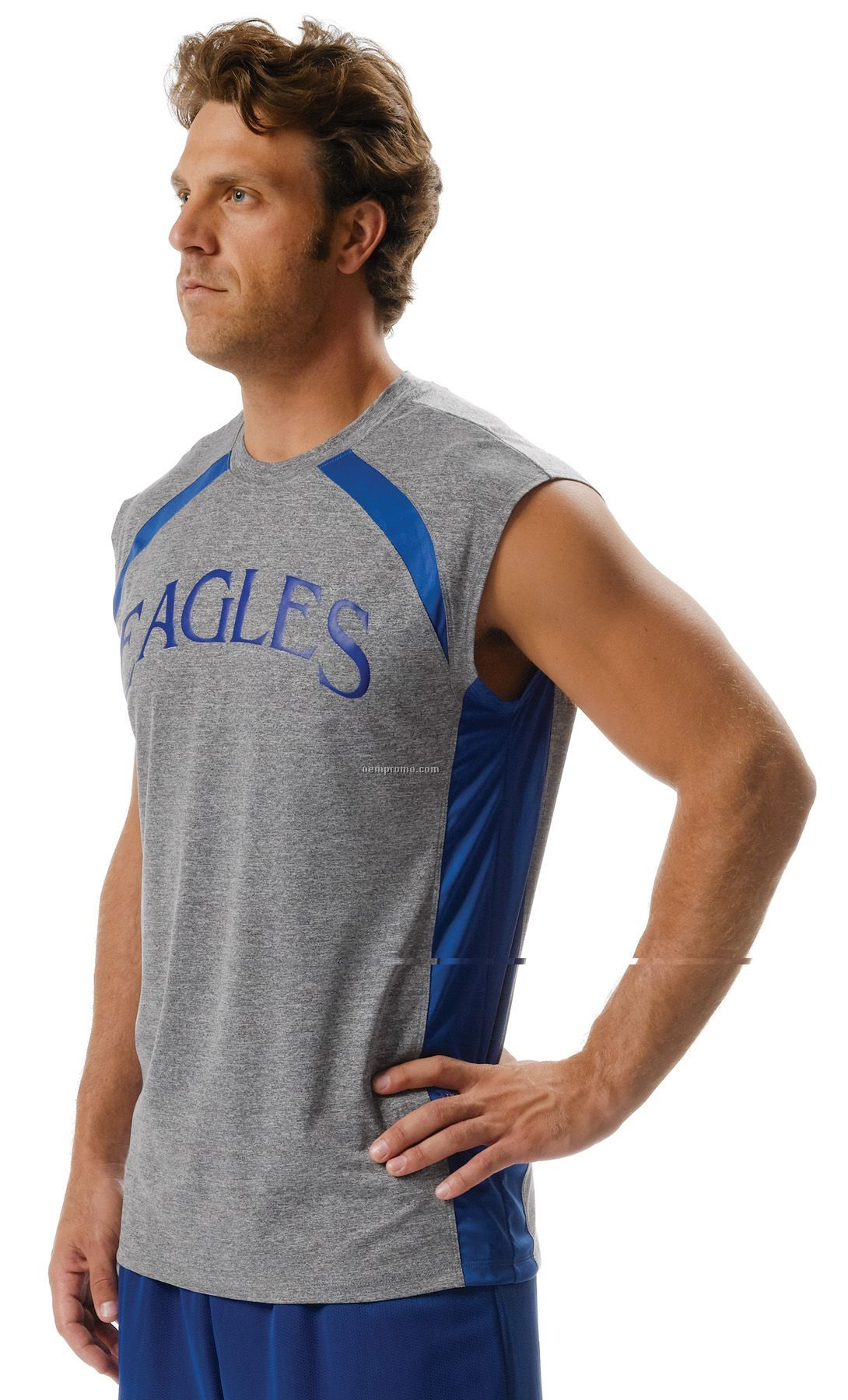 N2335 Adult Color Block Performance Muscle Tee