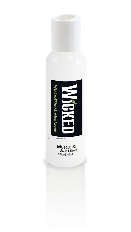 White Bottle, White Disc Lid 2 Oz