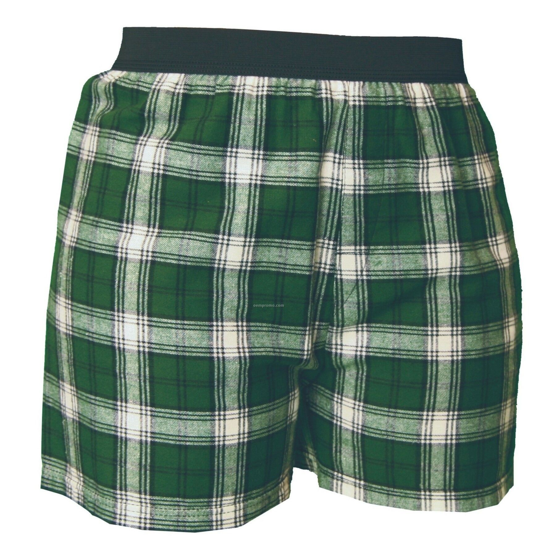 Youth Green/White Plaid Classic Boxer Short