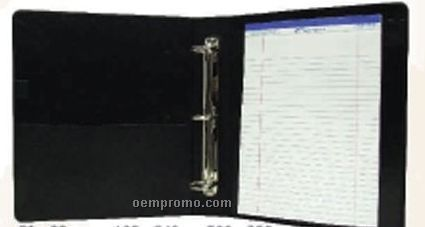 "Black 2"" Cowhide Napa Executive Binder"
