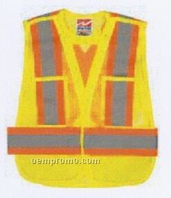 Open Road Safety Vest In Fluorescent Green