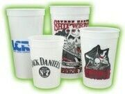 Fluted Glow Stadium Cup - Offset Printing (24 Oz.)