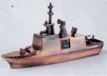 Military Bronze Metal Pencil Sharpener - Surveillance Vessel