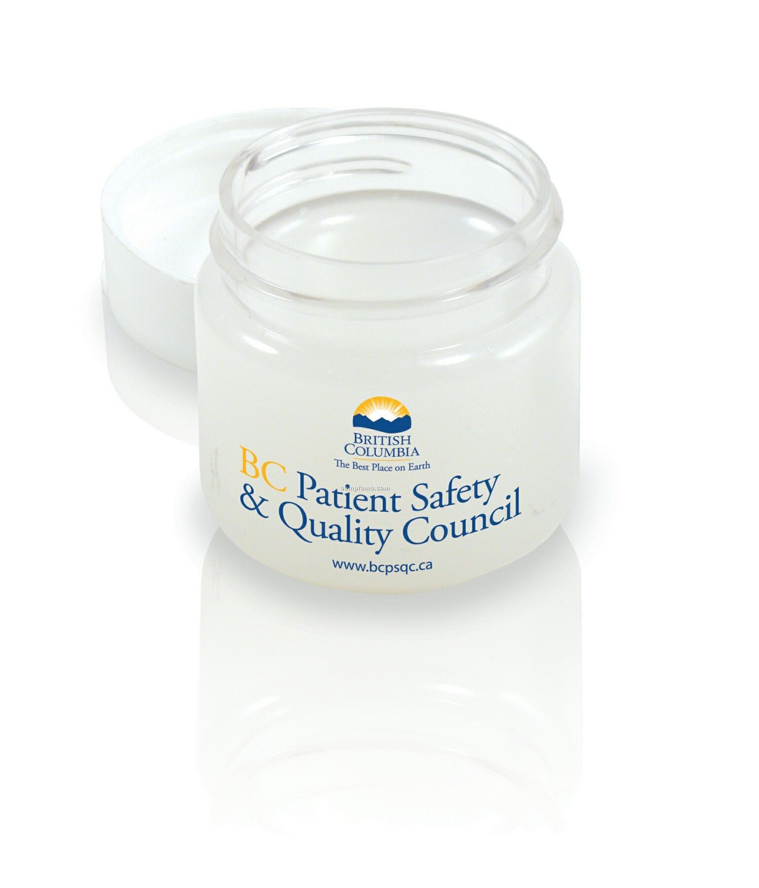 Clear Jar, White Lid 0.63 Oz Net Weight