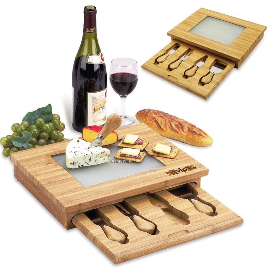Derby Bamboo Cheese Board Set