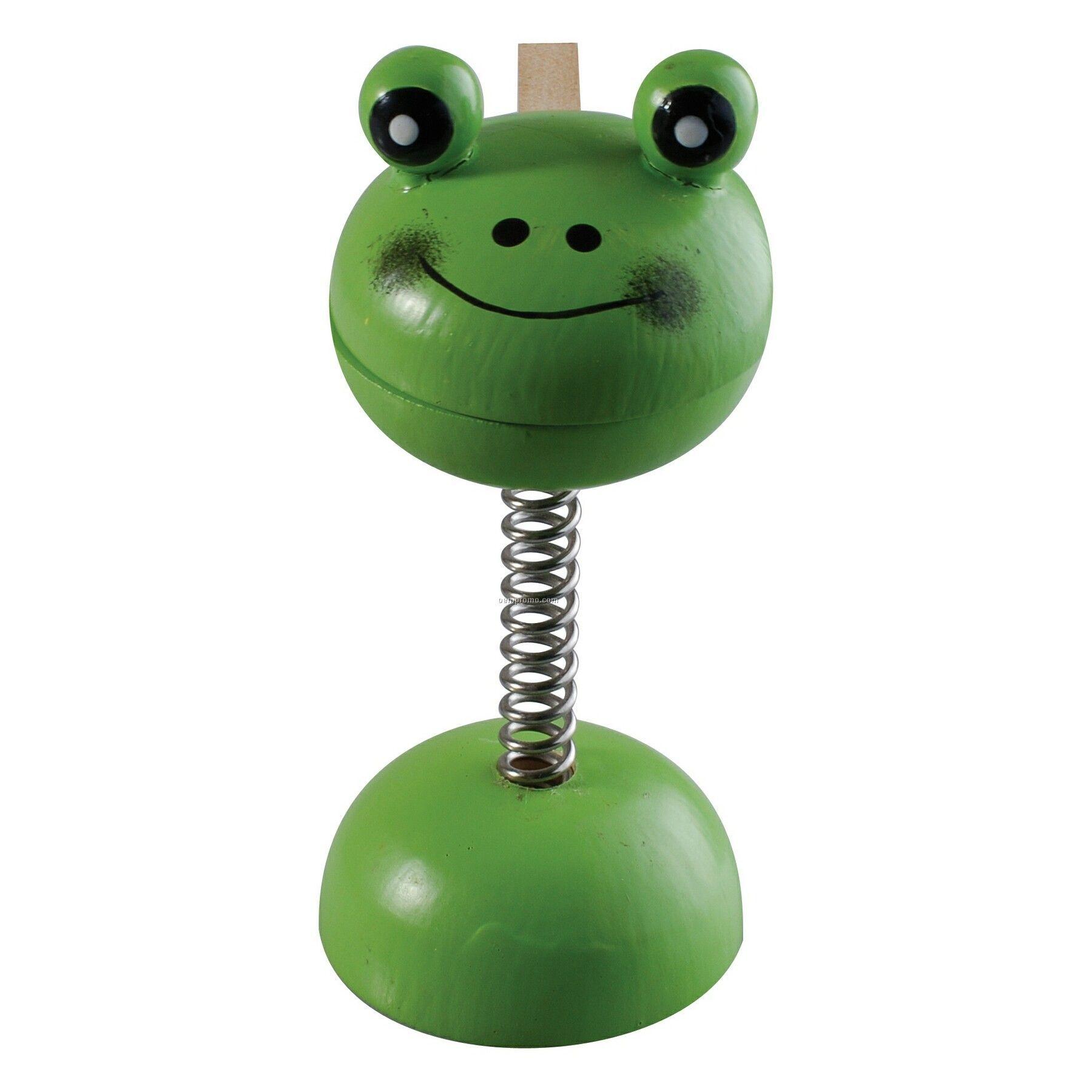 Frog Wooden Memo Holder