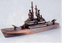 Military Bronze Metal Pencil Sharpener - Missile Cruiser