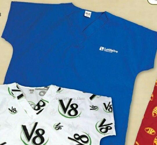 Scrub Shirt With 1 Location Print (Youth S-xl) & (Adult Xs-2xl)