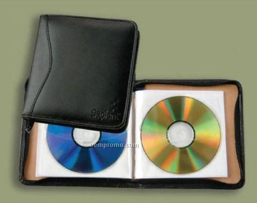 Vinyl Leatherette Slim-line CD Holder