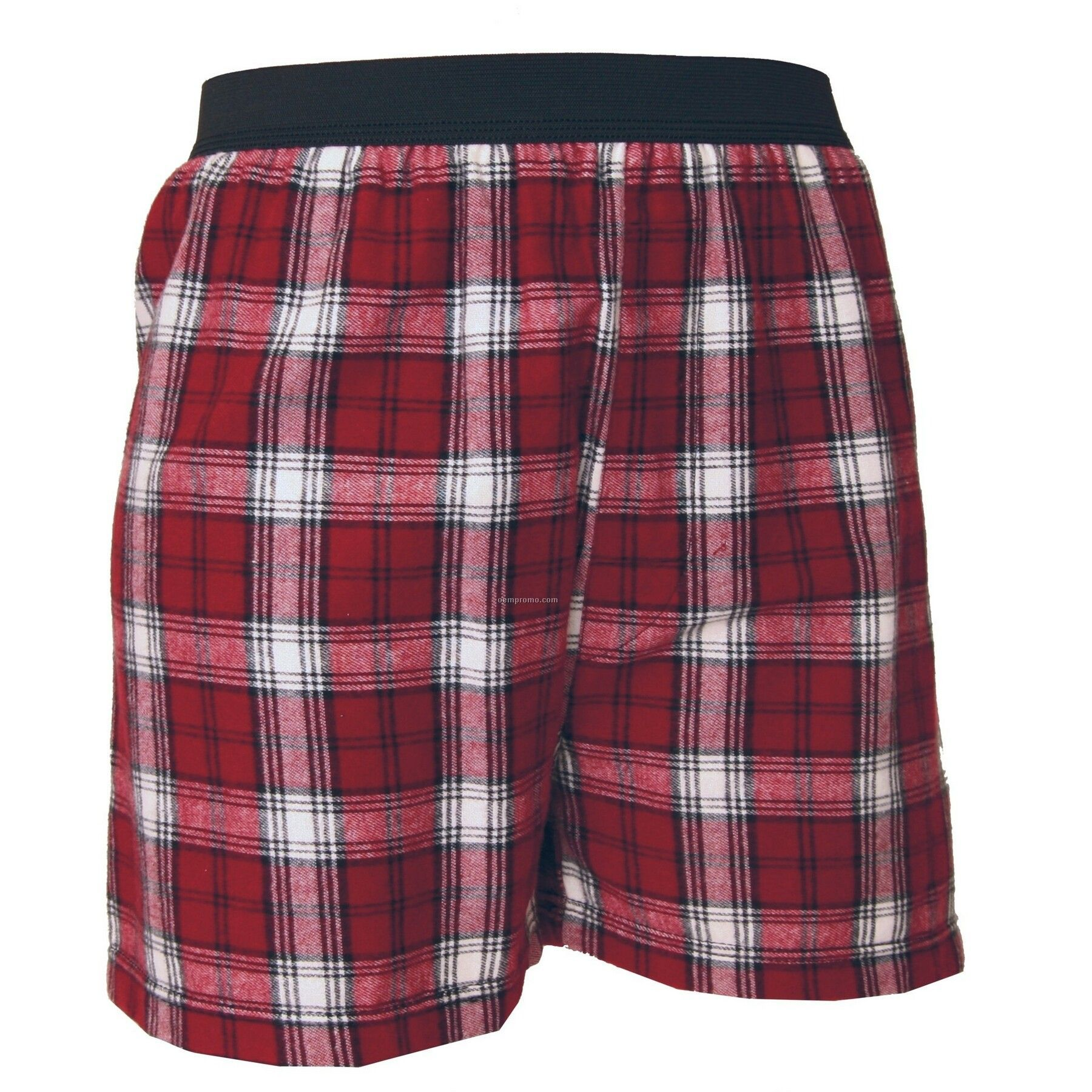 Youth Maroon Red/ White Plaid Classic Boxer Short