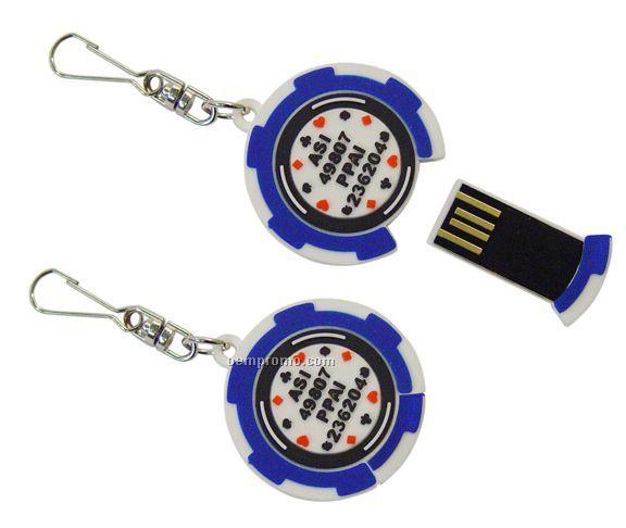 Zip-r-pull USB Flash Drive
